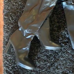 Black boots Nine West   3 inch heel
